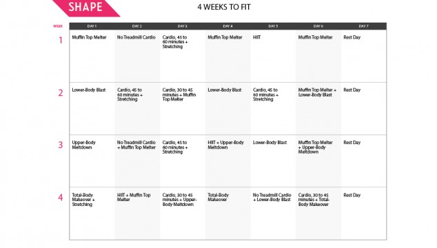 Shape Magazine's 4 Weeks to Fit